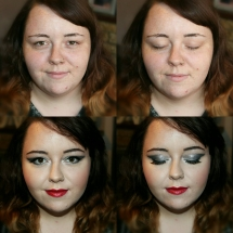 Katie Event Makeup Before & After