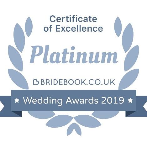 Bridebook Platinum Certificate of Excellence 2019